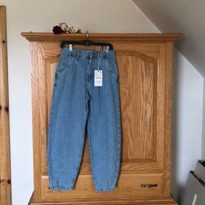 Wide leg size 4 jeans.